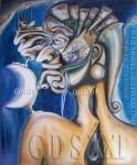 """Pintor, pinturas geniales, arte genial, arte artista genios, el genio del arte siglo XXI. 21 """"ROSTRO DE POLUCIÓN"""""""