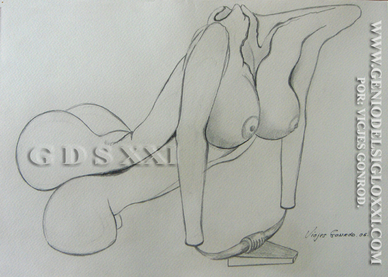 Dibujos modernos del Genio del Arte del Siglo XXI Vicjes Gonród, coleccionar dibujos, dibujante, creador, dibujos baratos, venta dibujos contemporaneos, España