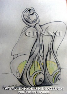Genio del Arte del Siglo XXI, coleccionar dibujos actuales, dibujo moderno, dibujos contemporaneos de Vicjes Gonród, dibujante, dibujar, venta de dibujos