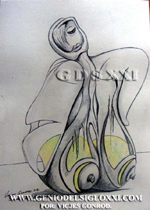 Genio del Arte del Siglo XXI, coleccionar dibujos actuales, dibujo moderno, dibujos contemporaneos de Vicjes Gonród, dibujante, venta de dibujos, España