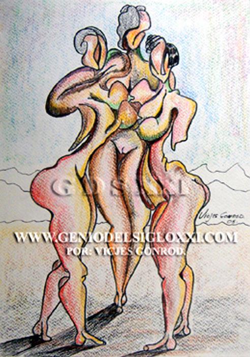 Genio del Arte del Siglo XXI, coleccionar dibujos actuales, dibujo moderno, dibujos contemporaneos de Vicjes Gonród, dibujar, dibujante, venta de dibujos, España
