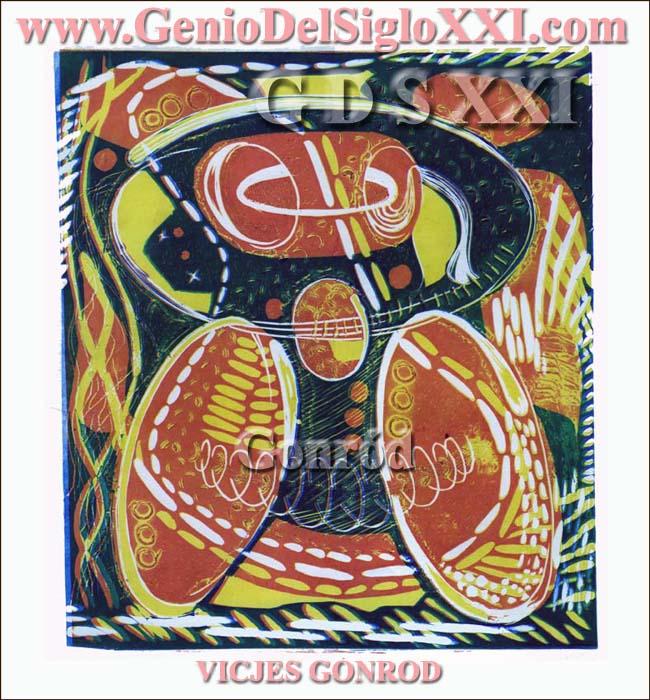 Grabados actuales del Genio del Arte del Siglo XXI Vicjes Gonród, coleccionar grabados, grabador, creador, grabado contemporáneo, grabados modernos, compra venta grabados, España