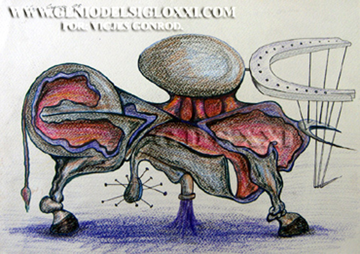 Vicjes Gonród, dibujo moderno, dibujos actual, coleccionismo dibujos contemporaneos, dibujar, compra venta de dibujos, Genio del Arte del Siglo XXI, España