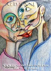 coleccionar dibujos actuales, dibujo moderno, dibujos contemporaneos de Vicjes Gonród, dibujante, dibujar, venta de dibujos, Genio del Arte del Siglo XXI