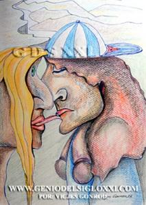 dibujo moderno, dibujos contemporaneos de Vicjes Gonród, coleccionar dibujos actualess, dibujante, dibujar, venta de dibujos, Genio del Arte del Siglo XXI
