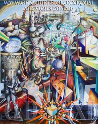 Estilo Intuismo Sincrético de Vicjes Gonród, Título de la obra El laberinto de la utopía trascendente en el retrato intuista del mito