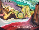 pintura Oleo de Vicjes Gonród el genio del arte del siglo 21,